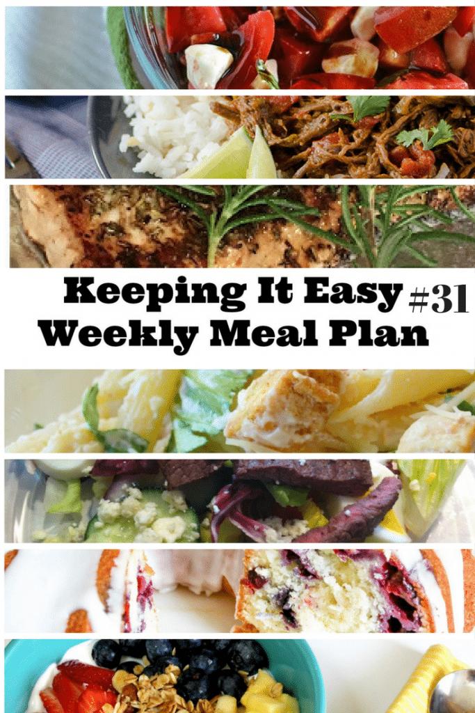 Menu Plan Ideas for the week.