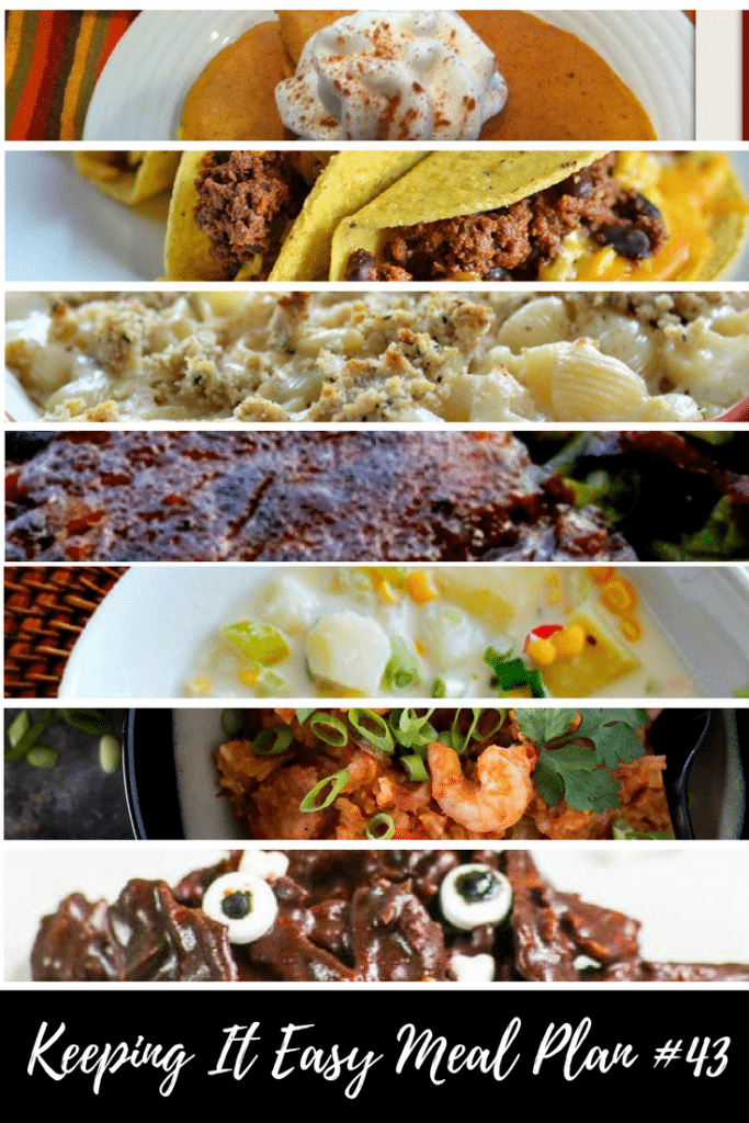 This Meal Plan is filled with lots of tasty menu ideas for fall! Yum!