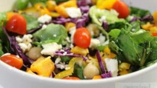 This easy Mediterranean Salad recipe is a favorite for potlucks, dinners and picnics. Also makes a great lunch bag meal!