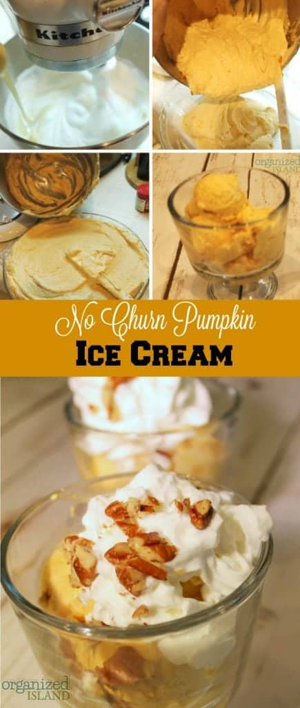I had no idea this no churn Pumpkin Ice cream recipe is so easy to make and it's delicious!