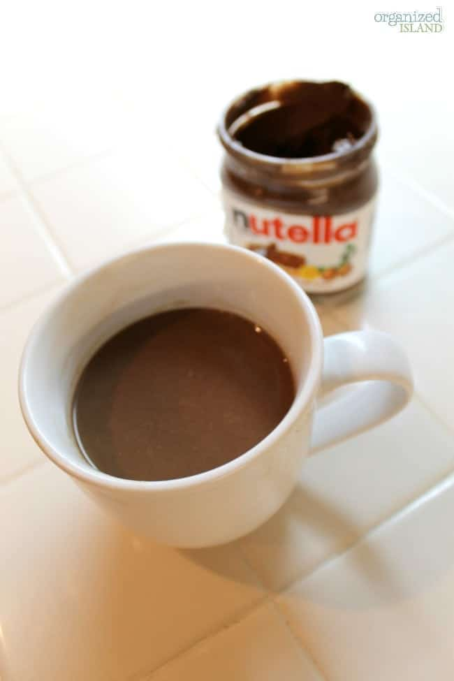 Warm up your body and your tastebuds with this Nutella Hot Chocolate Recipe. So good!