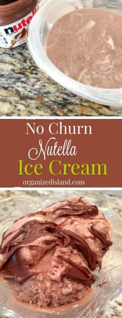 It's still summer - surprise the family with Nutella Ice cream It is perfect for a cool treat you can make at home!