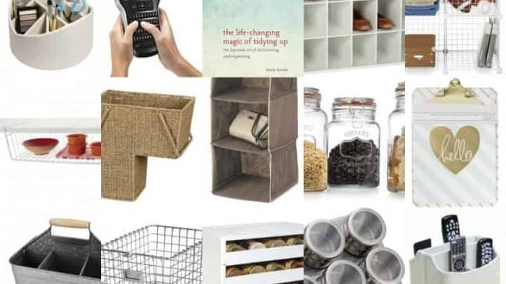 Favorite organizing tools from top bloggers. So many great ideas here to declutter and get organized!
