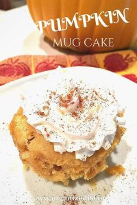 No need to make a full on pie - get your taste of pumpkin in this mug cake that takes minutes!