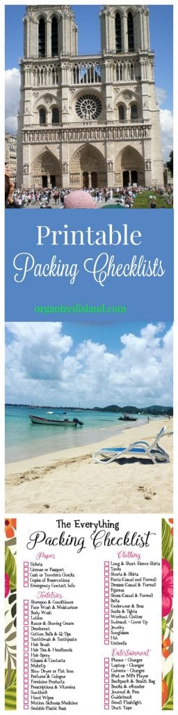 If you are looking for a printable travel packing list, there are several here on this website. Even one for cruises!