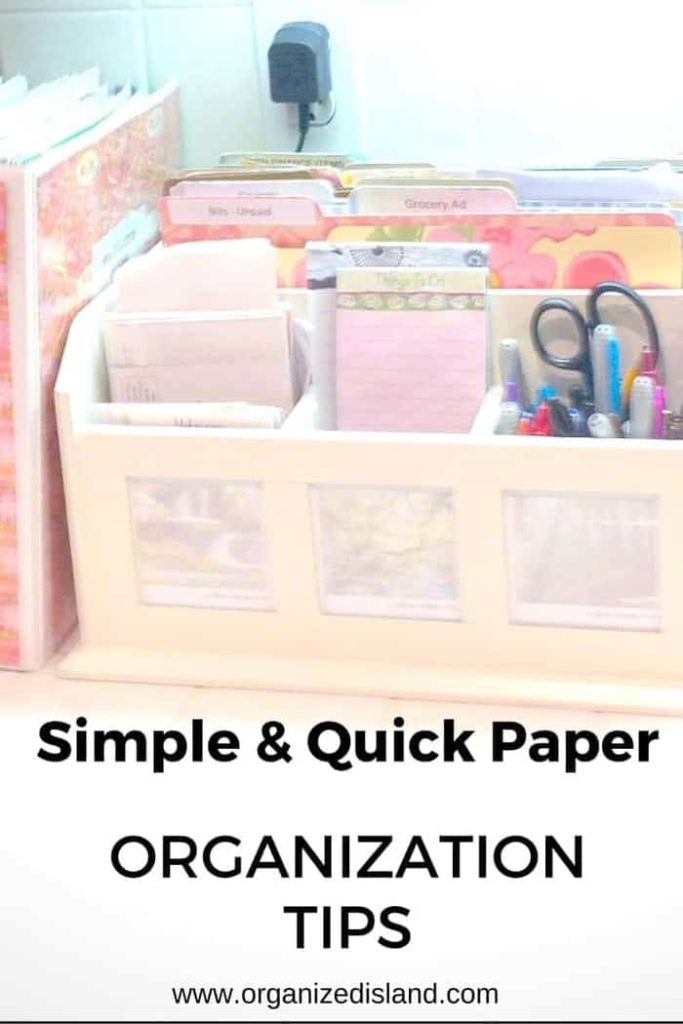Simple tips to get that incoming paperwork under control and organized. These household organizing tips are great for several aspects of your life!