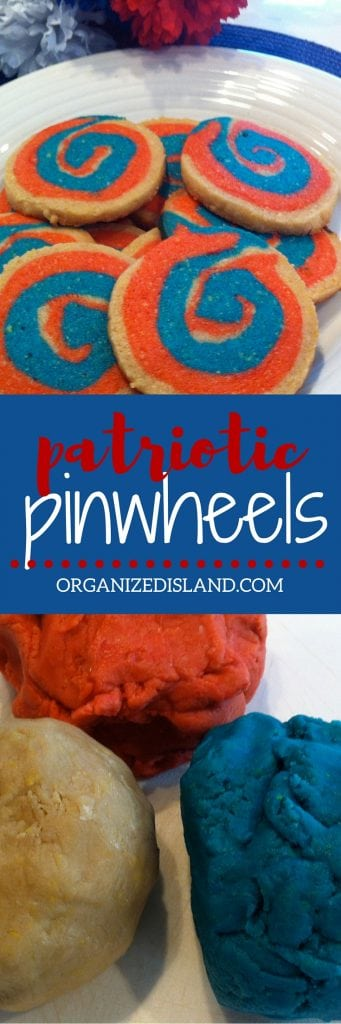 These patriotic pinwheel cookies are fun to make and are a nice treat for Memorial Day or 4th of July!
