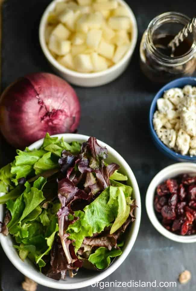 This beautiful fall salad comes together quickly with just a few ingredients.