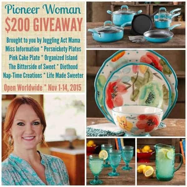 Pioneer Woman Giveaway no url