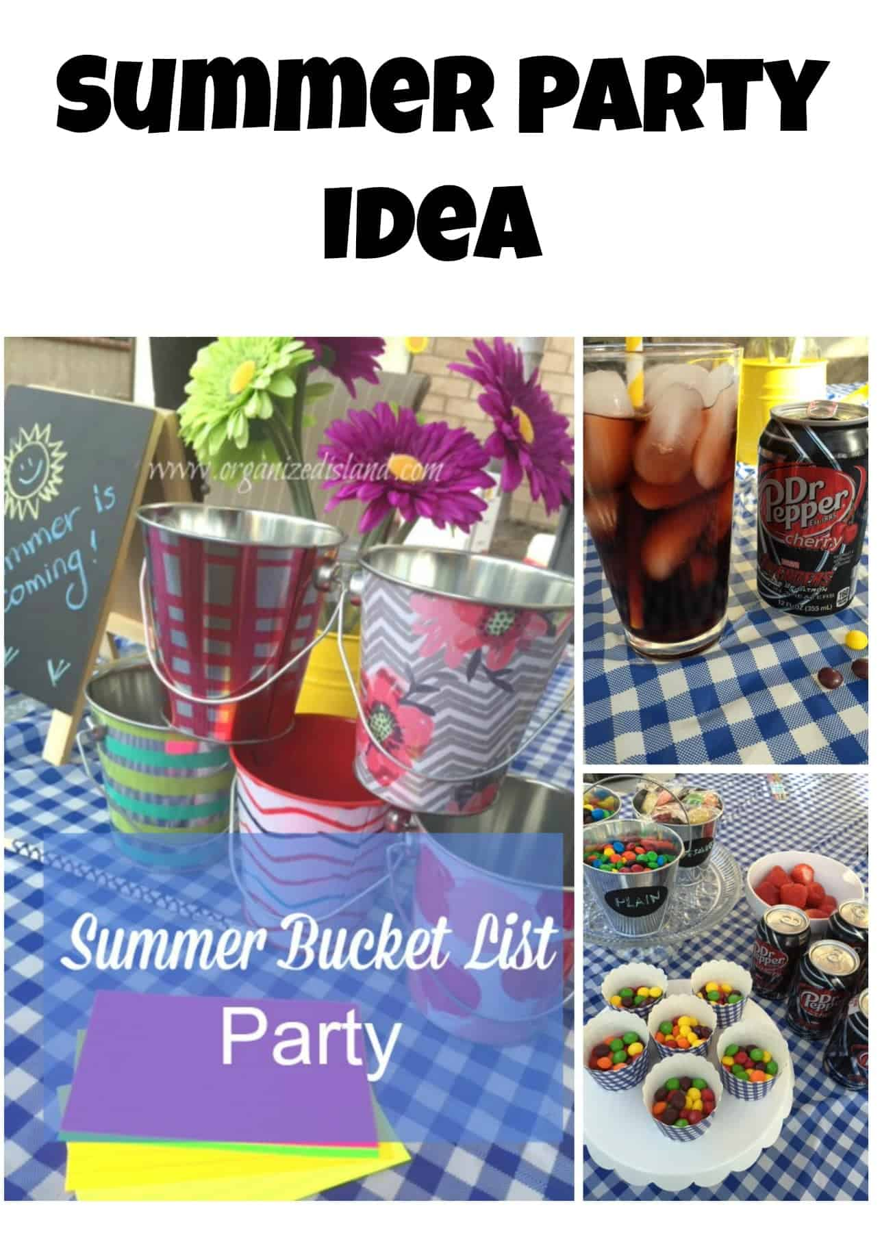 Plan a fun summer bucket list party! Great for all ages to do together!