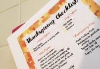A Printble Checklist for Thanksgiving Preparations. #Thanksgathering (Ad)