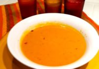 This easy pumpkin soup recipe is like autumn in a soup. Easy and does not require straining.
