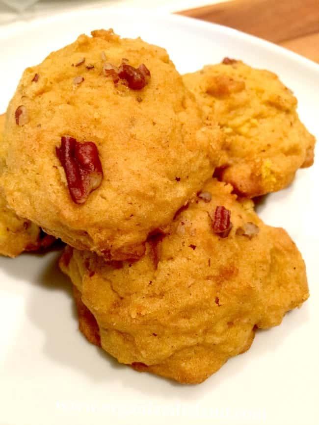 Pumpkin-and-pecan-cookies