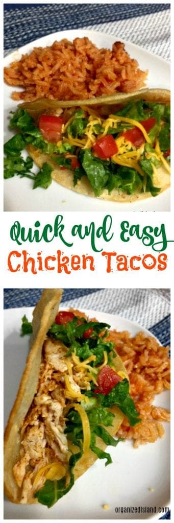 These Quick weeknight chicken tacos are perfect for those busy evenings when you need to get dinner on the table.