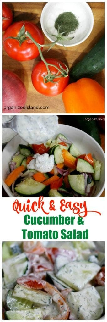 Quick and easy Cucumber Tomato Salad Recipe