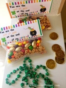 Rainbow trail mix is a fun and easy way to whip up a St. Patrick's Day treat!