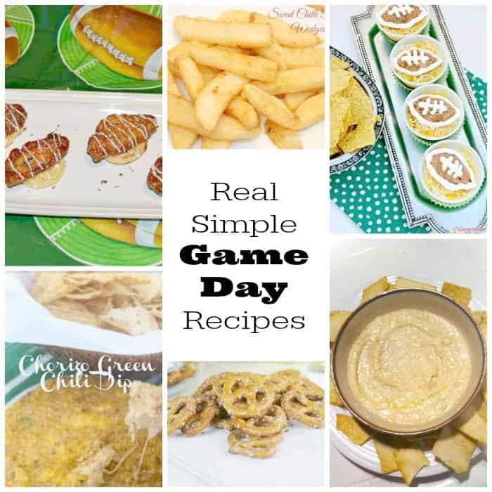 real simple game day recipes