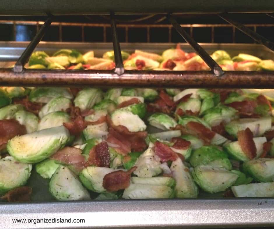 Adding bacon to brussel sprouts is a great way to make them special!