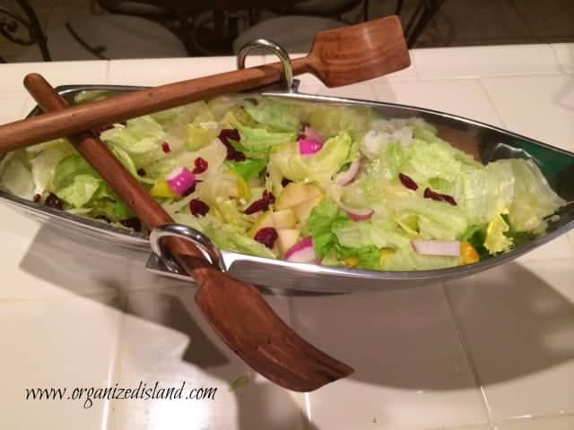 Salad-in-row-boat