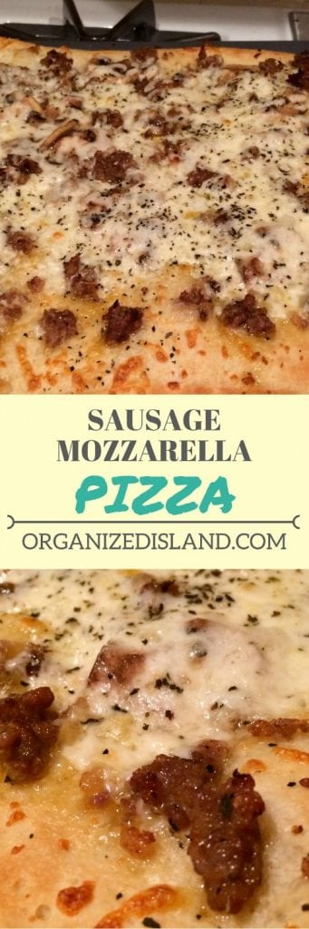Why spend money on take out when you can make this tasty pizza with sweet sausage and fresh mozzarella!
