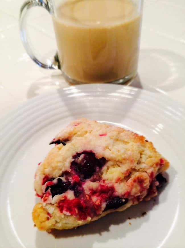 Blueberry and Raspberry scone