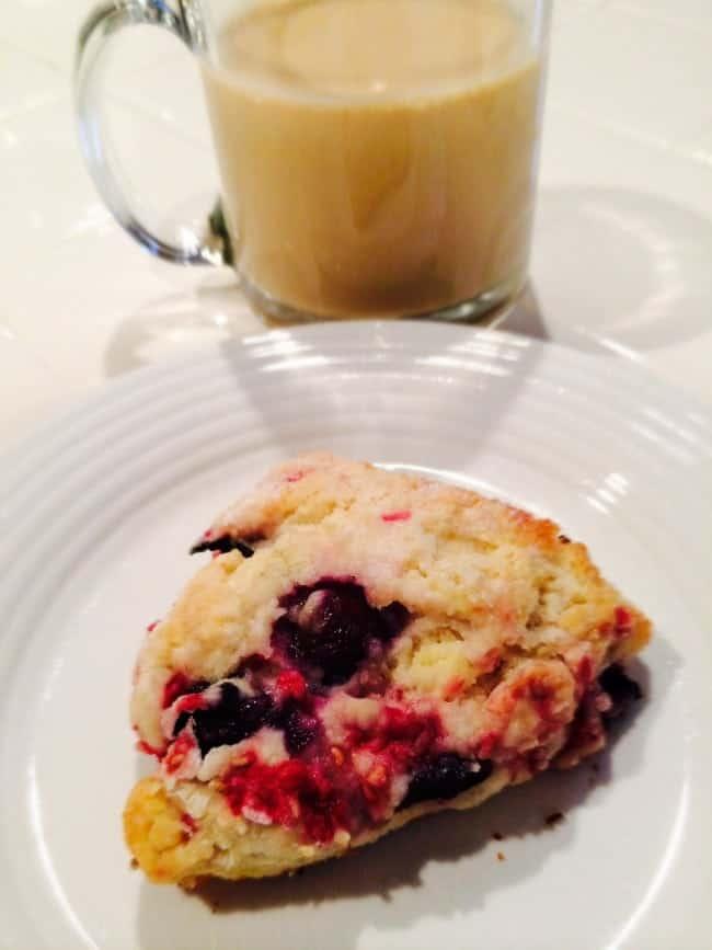 Blueberry Raspberry scone
