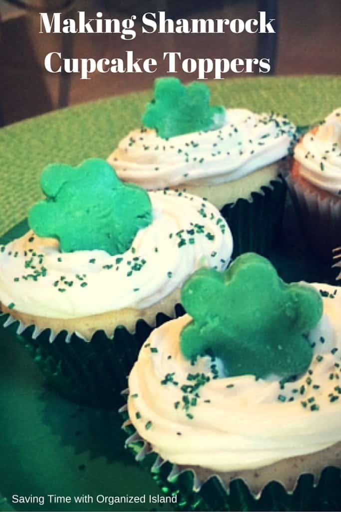 Make your cupcakes special with these simple shamrock toppers!