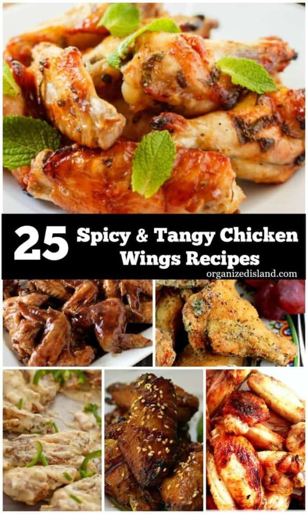 Looking for a snack? These Spicy,tangy chicken wing recipes are perfect for game time or any time.