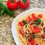 This Spaghetti Aglio E Olio Recipe is so easy and inexpensive! Perfect for a weeknight dinner!