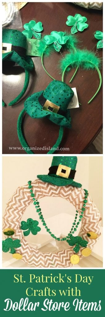 St. Patrick's Day Crafts made with dollar store supplies!