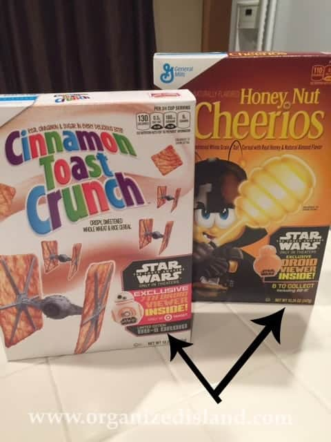 Star Wars Cereals have some great prizes in them! #Ad #StarWars