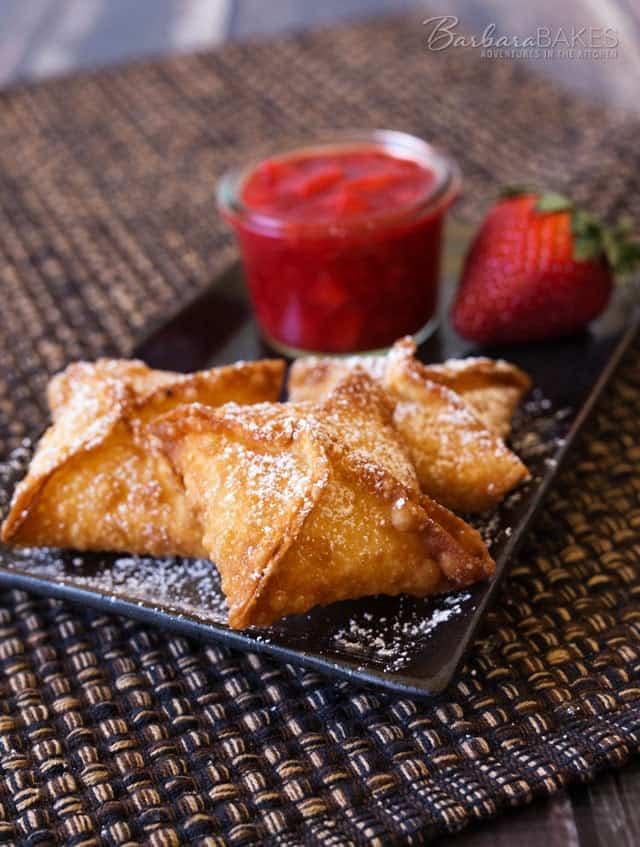 Strawberry-Cheesecake-Wontons-Barbara-Bakes