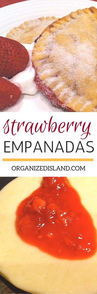 These easy strawberry empanadas are ready in minutes! All you need are some fresh strawberries and a pre-packaged pie crust. We love these in our home!