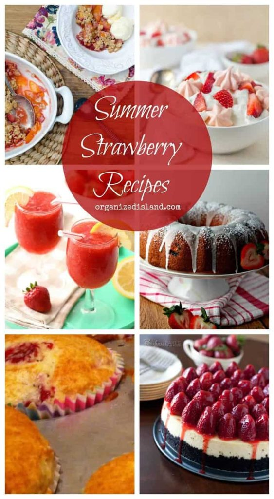 Easy Summer Strawberry recipes. We love using fresh, sweet strawberries in our food!