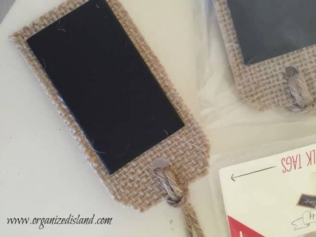 chalkboard tags are great for craft projects