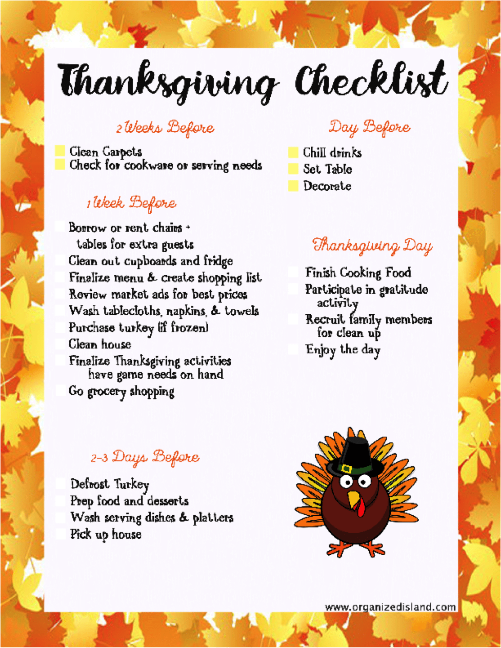 A Helpful Thanksgiving Checklist To Help You Prepare For The Holiday Happythanksgathering Ad
