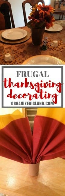 Looking for frugal Thanksgiving tablescape ideas? These napkin holders are easy to make - really cute and so frugal!