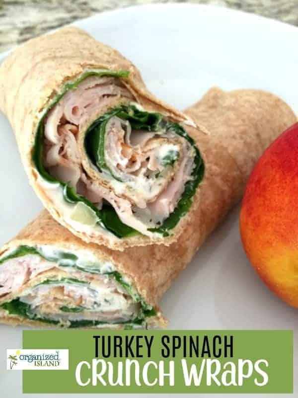 Turkey Spinach Crunch Wraps
