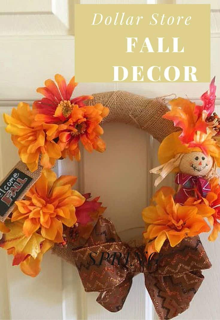 Twenty Minutes is all you need for this simple fall decor made with dollar store supplies
