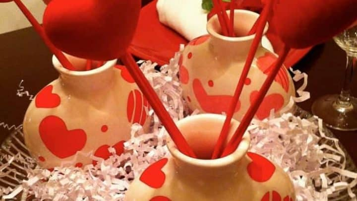 It's easy to make a Valentine's Day tablescape with help from the dollar store! Make the day special for just a few dollars!