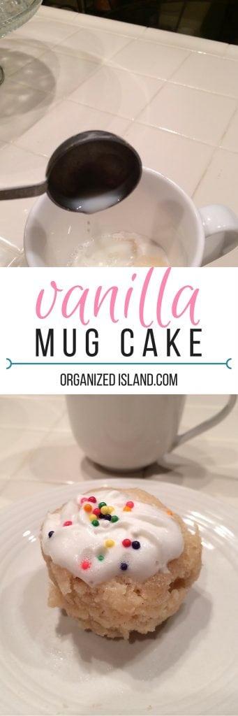 Vanilla Cinnamon Mug cake