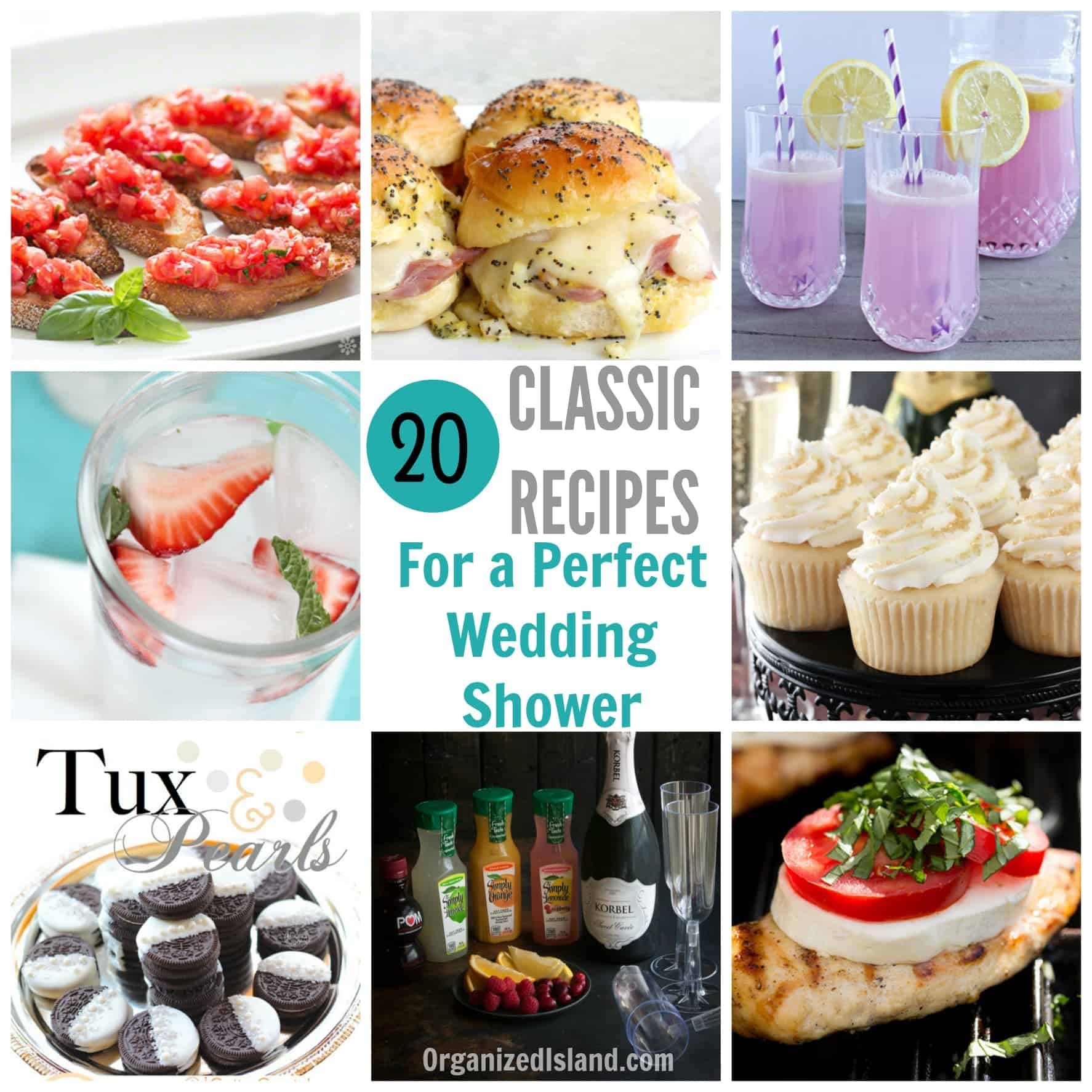 Bridal Shower Food Ideas Organized Island