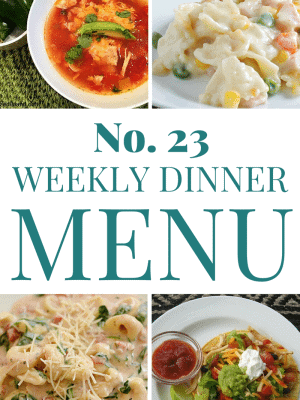 Check out this week's meal plan for some tasty dinner ideas!