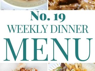 Weekly Dinner Menu Plan 19
