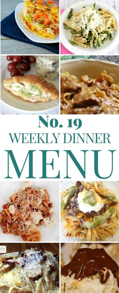 Weekly Dinner Menu Plan 19