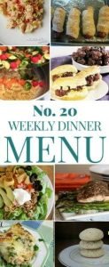 Greet weekly meal plan with lots of great ideas for a late spring week!