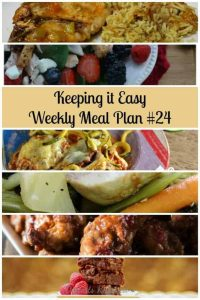 Weekly Meal Plan ideas