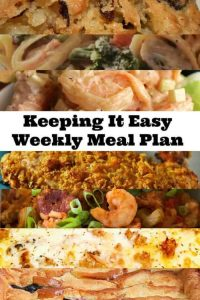 Easy and simple weekly meal plan ideas