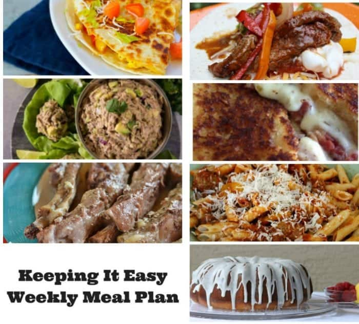 Weekly meal planning ideas for the family.