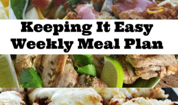 Mid Spring Weekly Meal Plan